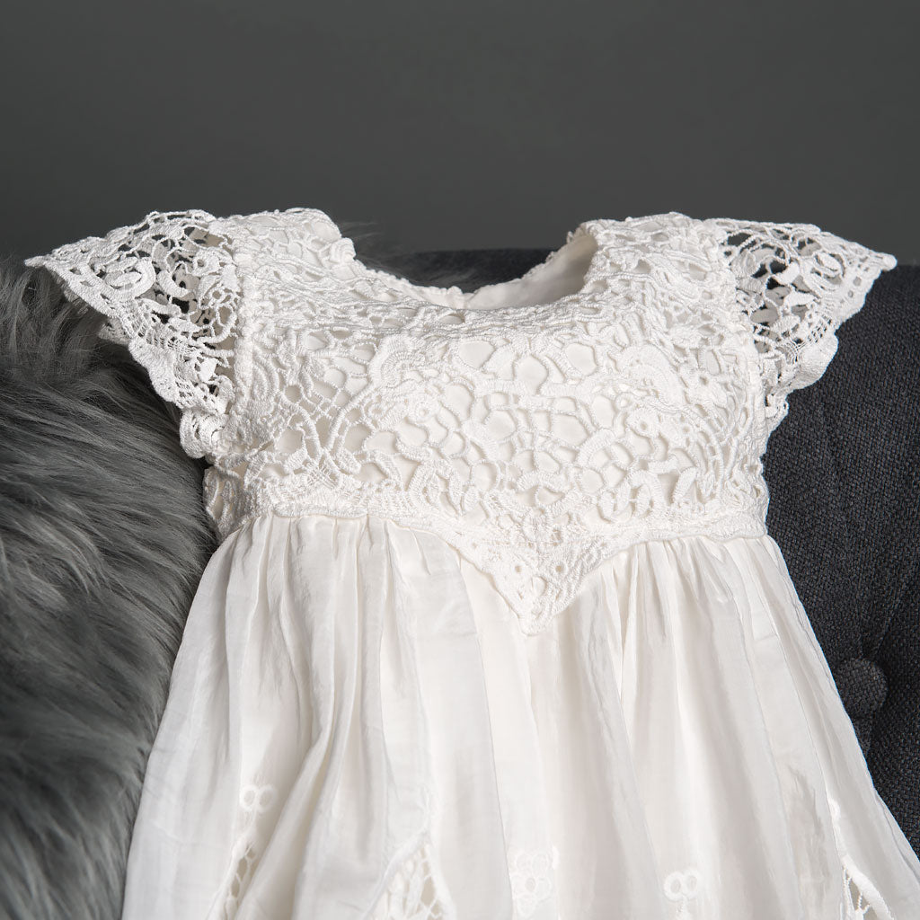 Grace Girls Christening Gown Bodice Detail