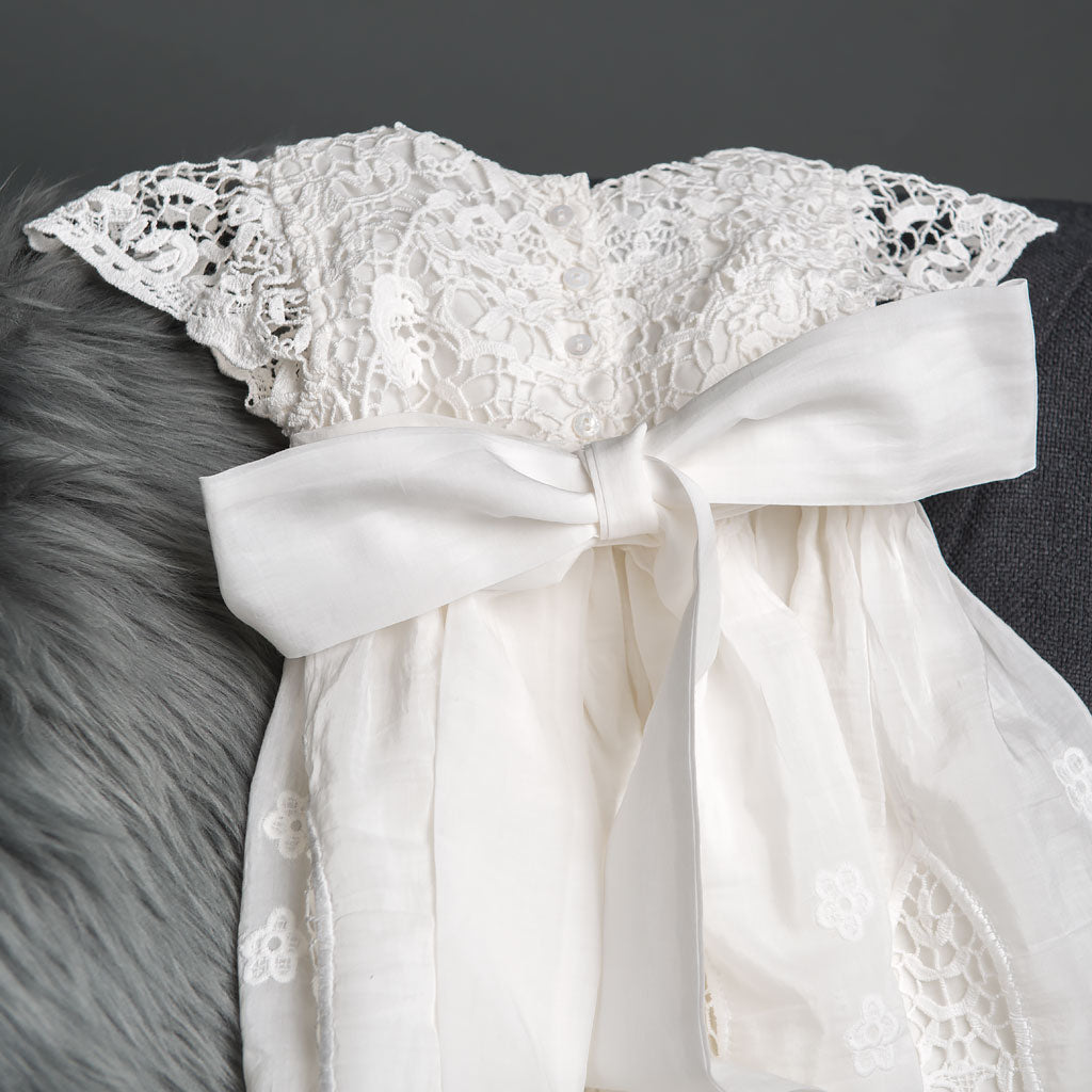 Grace Girls Christening Gown Back Detail