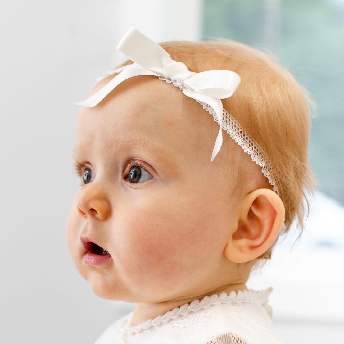 Victoria Christening Bow Headband