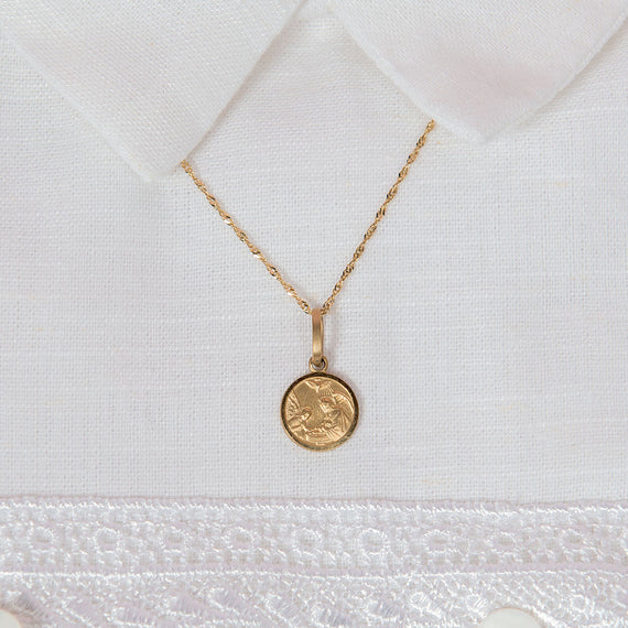 14K Solid Gold Charm Necklace