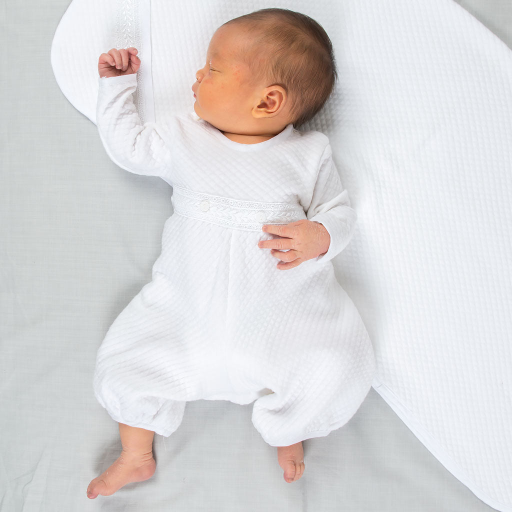Elijah Newborn Romper | Quilted Cotton