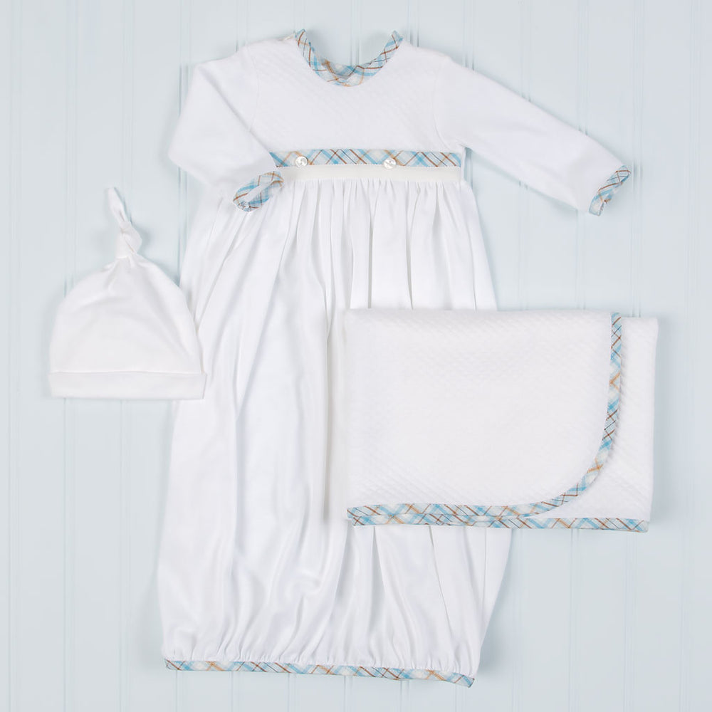 Mason Cotton Newborn Gown Set