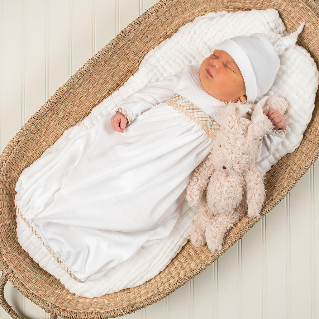 Dylan Cotton Newborn Gown Set - Save 10%