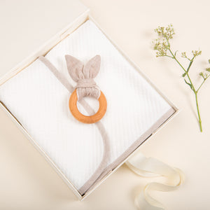 Sand Wooden Teether Ring