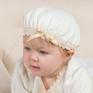 Gwen Quilted Cotton Bonnet