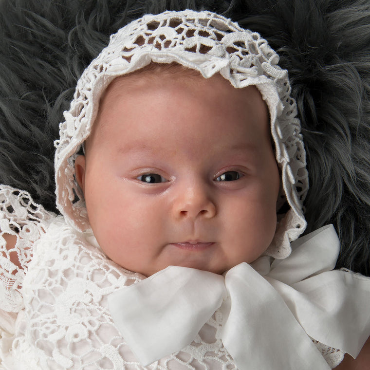 Grace Newborn Christening Gown & Bonnet