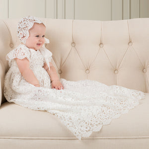 Lola Christening Gown & Bonnet