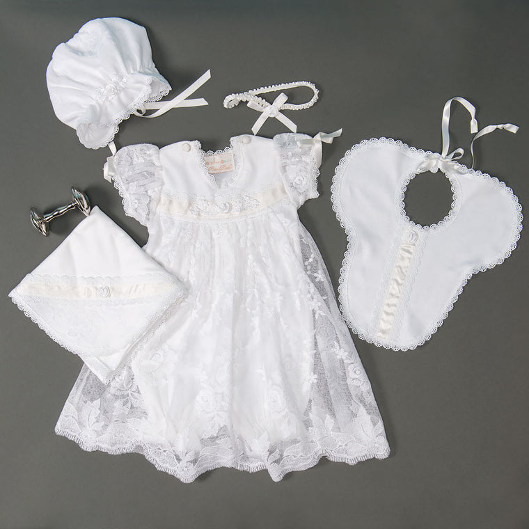 Louisa White Romper Dress Set - SAVE 10%