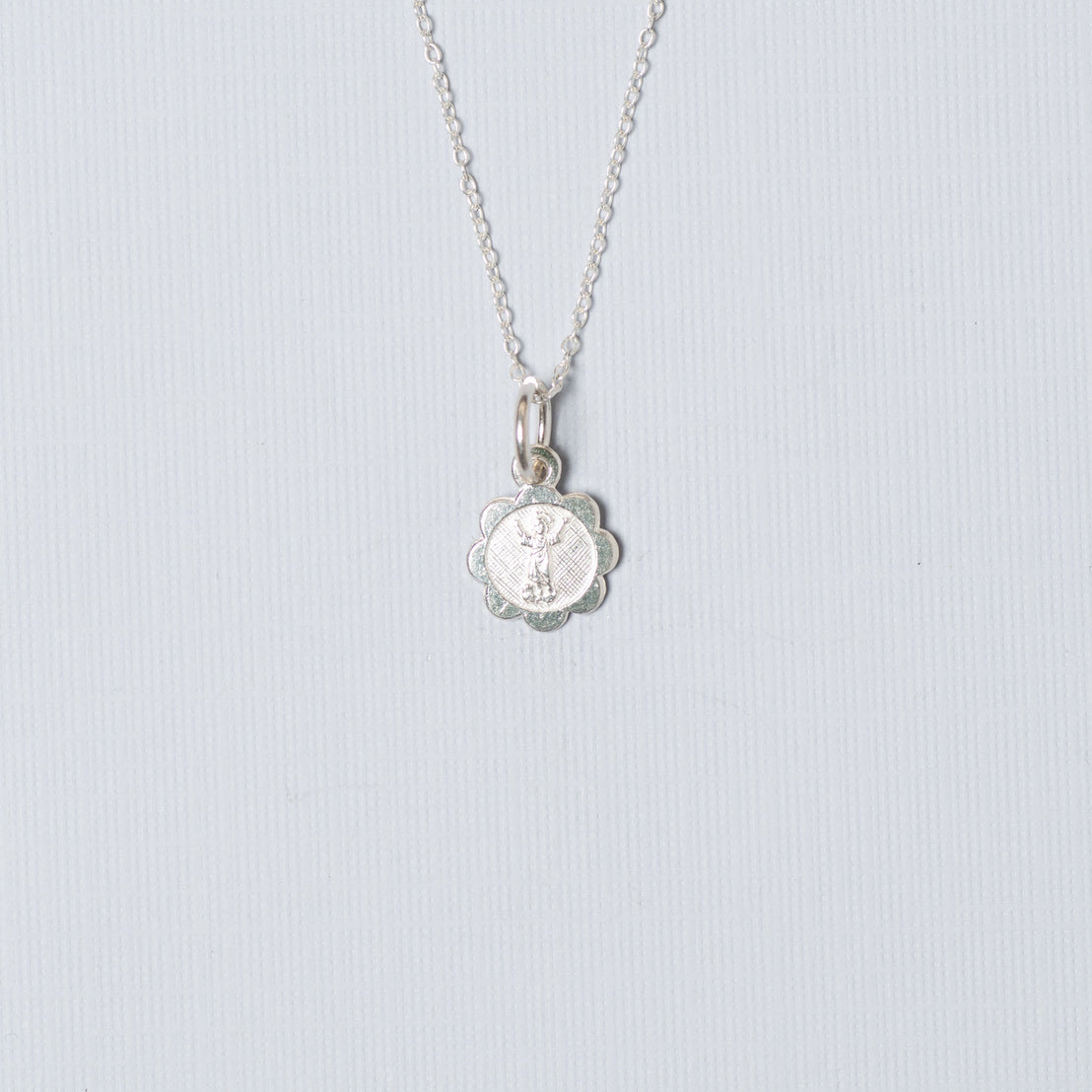 Sterling Silver Open Arms Charm Necklace