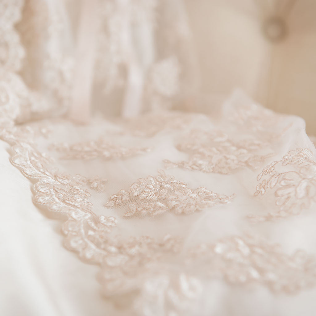Penelope Christening Gown Lace Detail