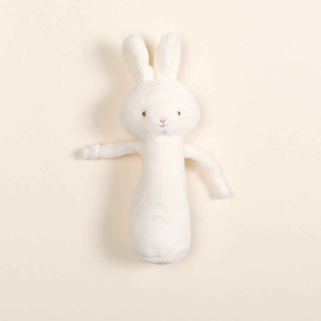 White Bunny Baby Rattle