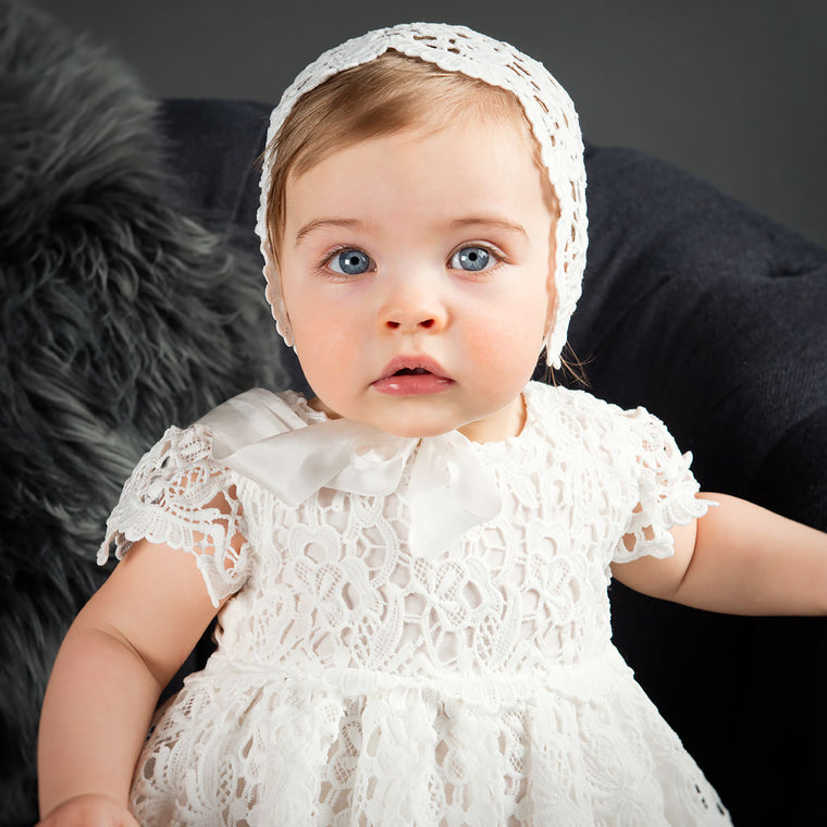 Lola Christening Dress With Headband