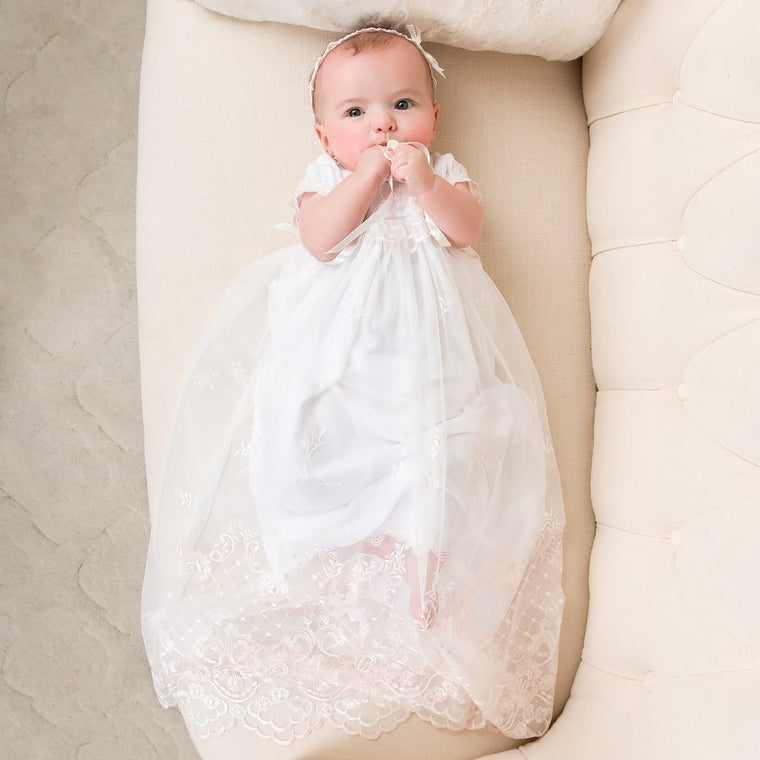 Girls Christening Gown - Joli Christening Gown