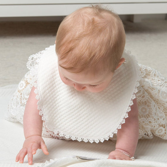 Poppy Christening Bib -