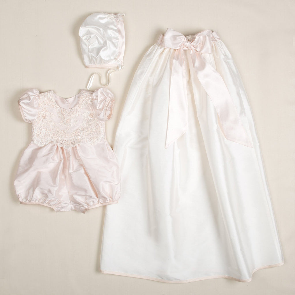 9fc1e9fde Baby Girl Convertible Silk Christening and Baptism Gown set – Baby ...