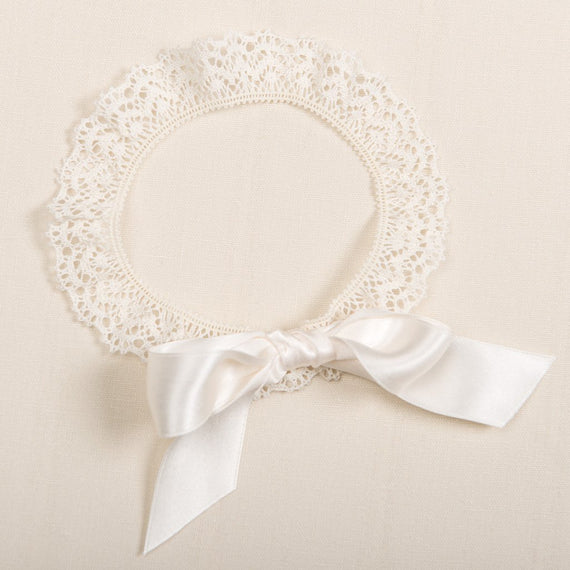 Tessa Lace Christening Headband - Girls Headband