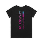 Be Legendary / Women's Black V-Neck