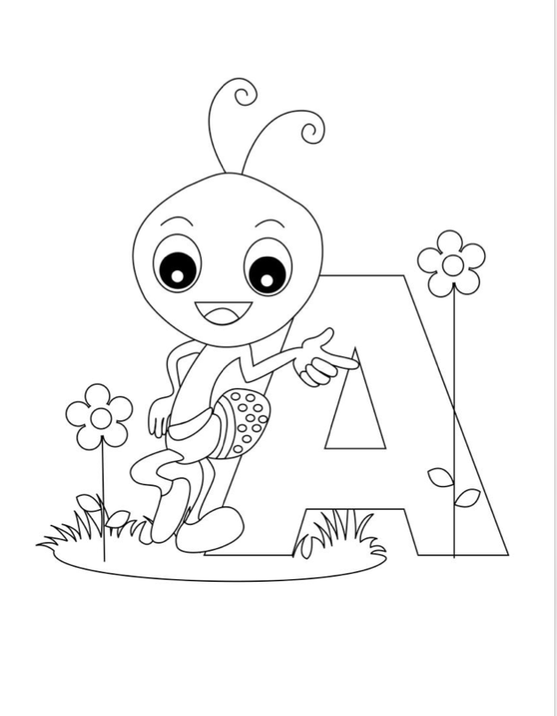 Alphabet Coloring Pages Pictures - Whitesbelfast | 806x627