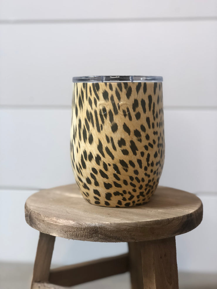 SIC 16oz Stemless - Cheetah