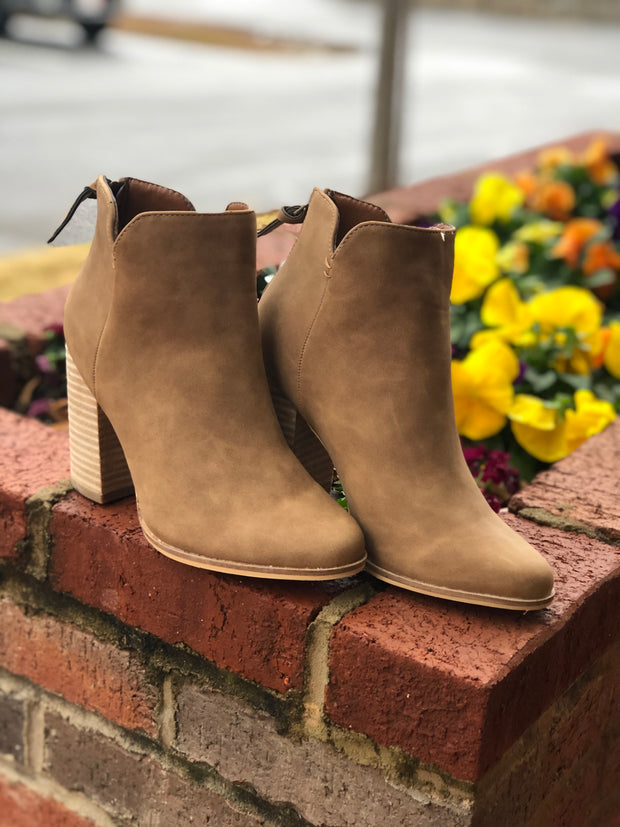 Norah Booties -Tan