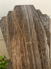 Druzy Stone Necklace- Black