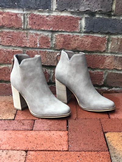 Norah Booties -Clay