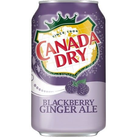 CANADA DRY GINGER ALE BLACKBERRY CAN 12oz - Premier Cru Retail Stores