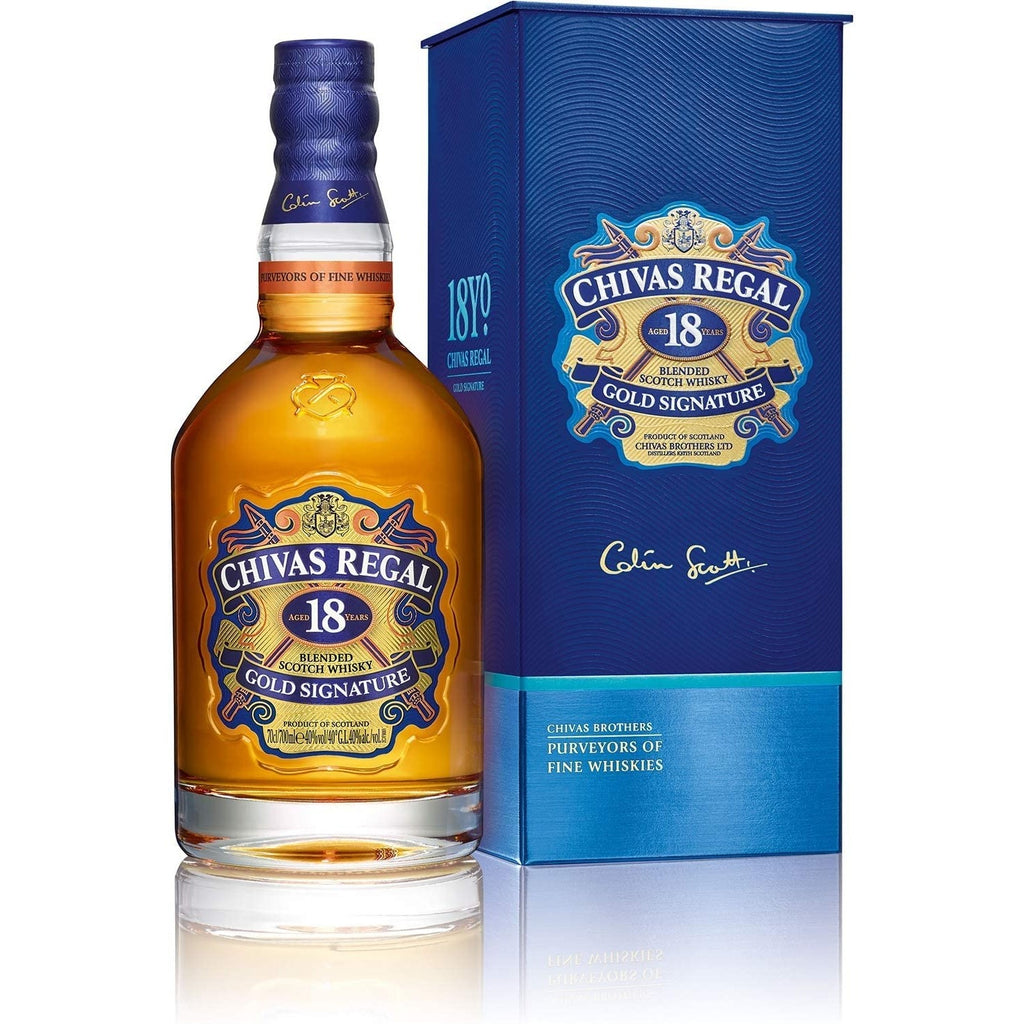 CHIVAS REGAL 18YR BLENDED SCOTCH 750ml - Premier Cru Retail Stores