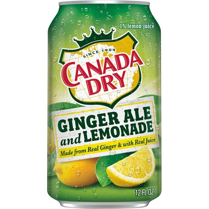 CANADA DRY GINGER ALE LEMONADE CAN 12oz - Premier Cru Retail Stores