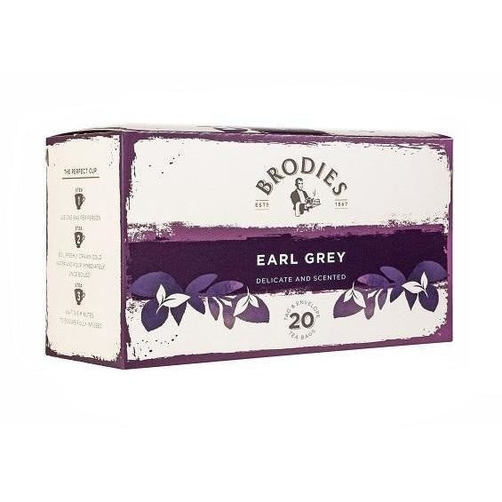 BRODIES EARL GREY TEA 20 Bags/Box - Premier Cru Retail Stores