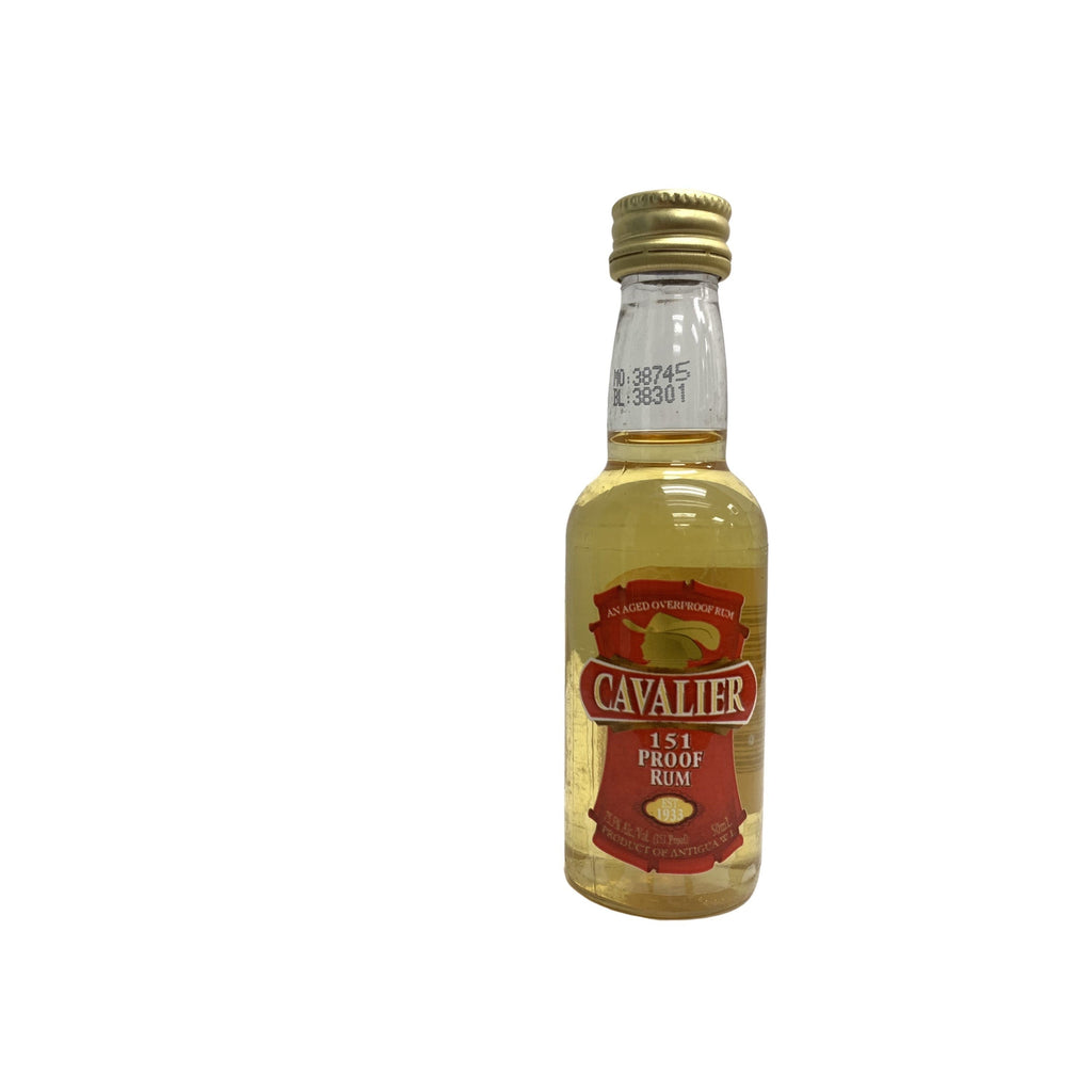 CAVALIER ANTIGUA RUM 151 PROOF 50ml - Premier Cru Retail Stores
