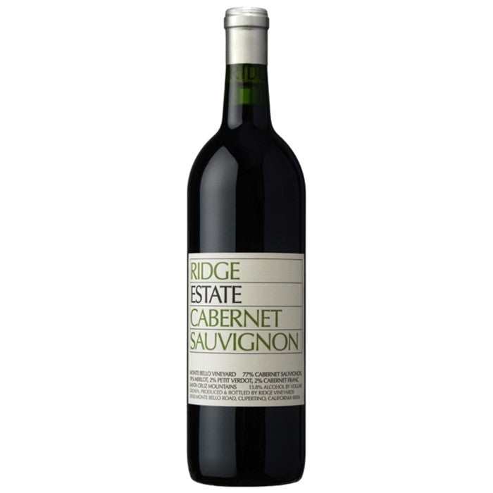 RIDGE VINEYARDS CABERNET SAUVIGNON SANTA CRUZ MONTAIN 75cl - Premier Cru Retail Stores