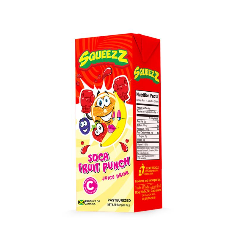 SQUEEZZ SOCA FRUIT PUNCH 200ml - Premier Cru Retail Stores