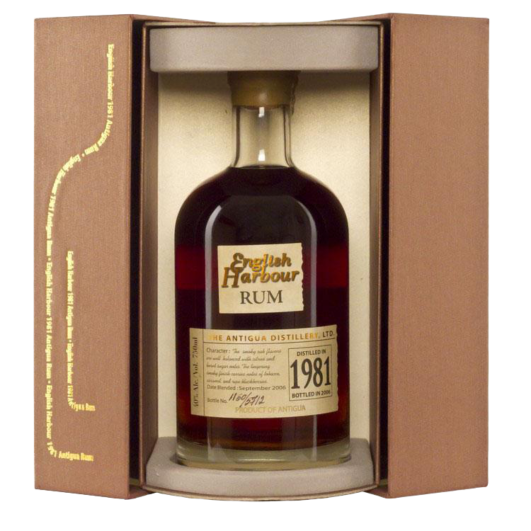 ENGLISH HARBOUR 1981 VINTAGE ANTIGUA RUM 750ml - Premier Cru Retail Stores