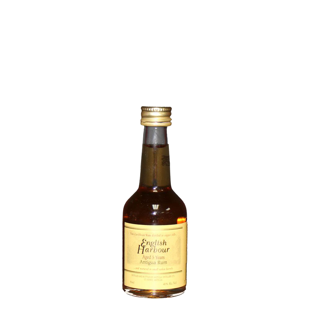 ENGLISH HARBOUR 5YR ANTIGUA RUM 50ml - Premier Cru Retail Stores