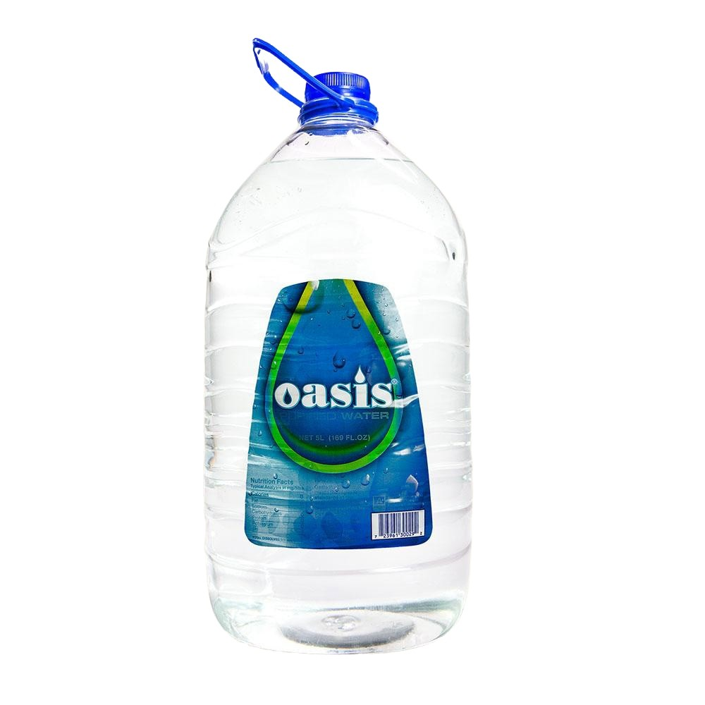 OASIS PURIFIED WATER 5 Litre - Premier Cru Retail Stores