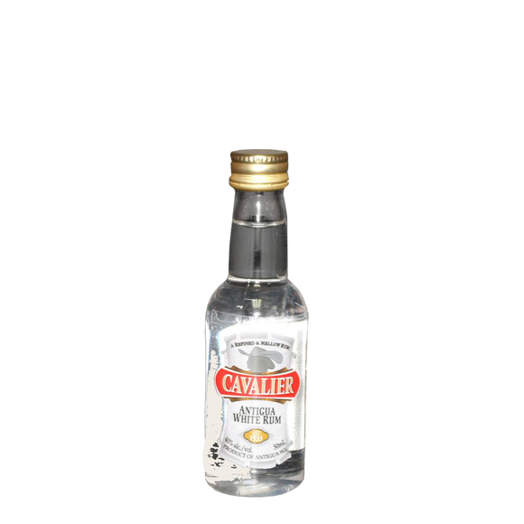 CAVALIER ANTIGUA RUM WHITE (PET) 50ml - Premier Cru Retail Stores