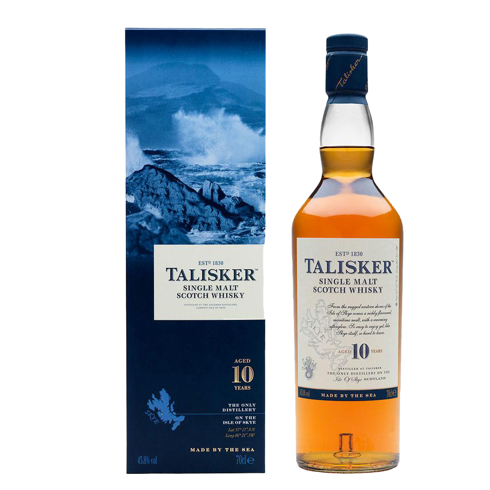 TALISKER 10YR SINGLE MALT SCOTCH 750ml - Premier Cru Retail Stores