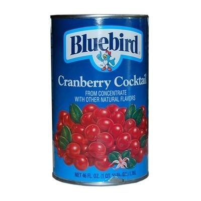 BLUEBIRD CRANBERRY COCKTAIL CAN 46oz - Premier Cru Retail Stores