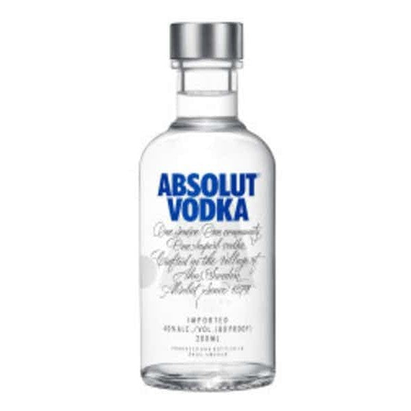 ABSOLUT BLUE VODKA 200ml - Premier Cru Retail Stores