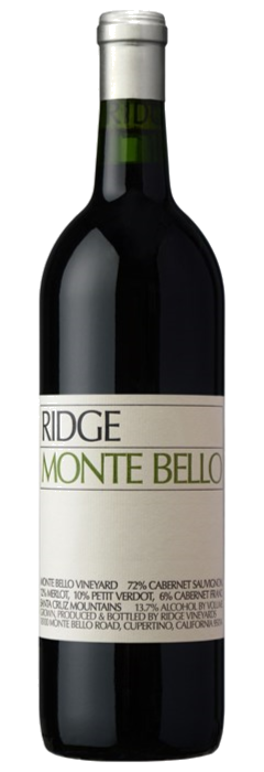 RIDGE VINEYARDS MONTE BELLO, SANATA CRUZ MOUNTAINS 75cl - Premier Cru Retail Stores