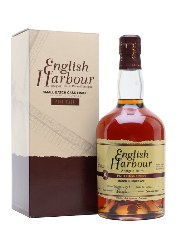 ENGLISH HARBOUR RUM AGED SHERRY CASK FINISH 750ml - Premier Cru Retail Stores
