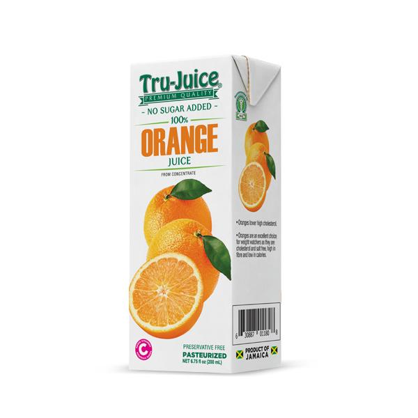 TRU-JUICE 100% ORANGE JUICE 200ml - Premier Cru Retail Stores