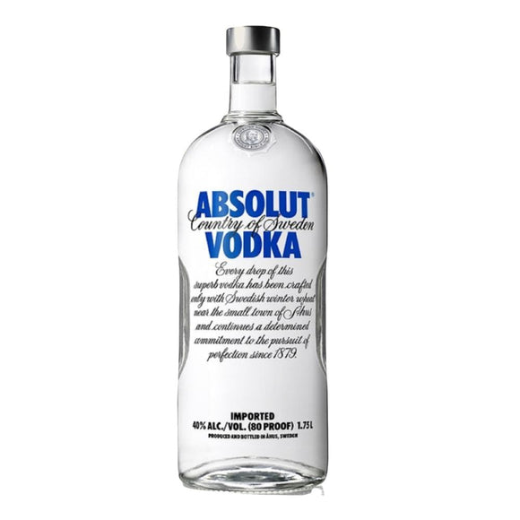 ABSOLUT BLUE VODKA 1.75 Litre - Premier Cru Retail Stores