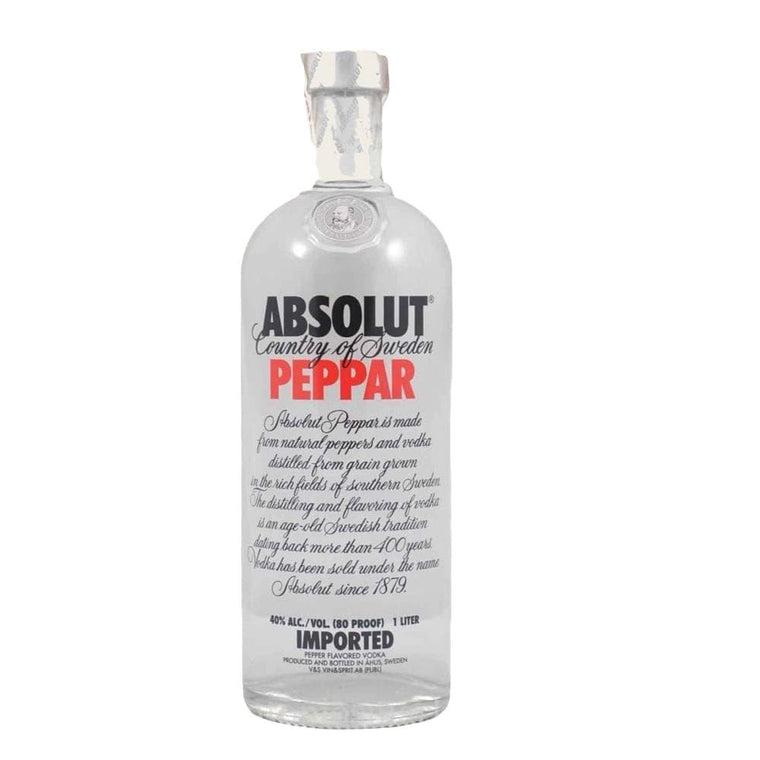 ABSOLUT PEPPAR VODKA 1 Litre - Premier Cru Retail Stores