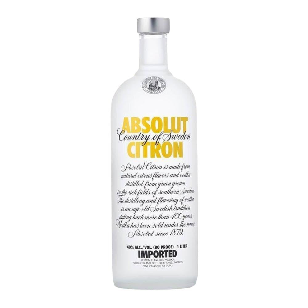 ABSOLUT CITRON VODKA 1 Litre - Premier Cru Retail Stores