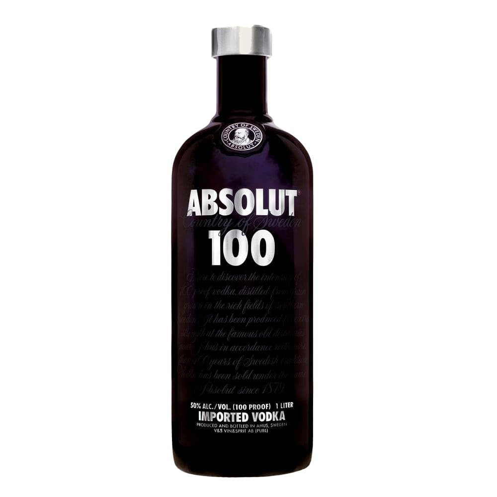 ABSOLUT 100 BLACK VODKA 1 Litre - Premier Cru Retail Stores