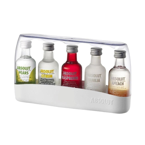 ABSOLUT FIVE VODKA SAMPLER GIFT BOX 5 x 50ml - Premier Cru Retail Stores
