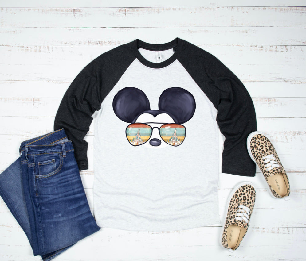 Vintage Mickey Best Day Ever Tank and Baseball Tee