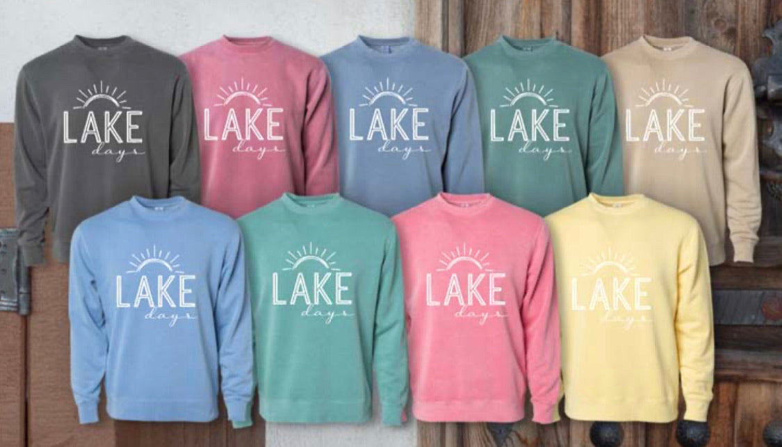 Lake days sweatshirt